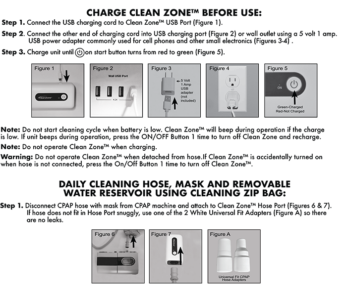 See the full details of operating Clean Zone™